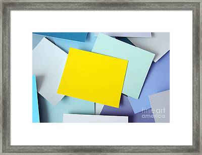 Yellow Memo Framed Print by Carlos Caetano