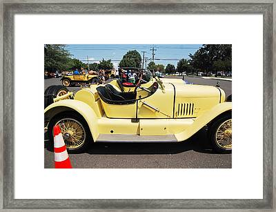 Yellow Mercer Framed Print