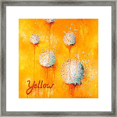 Yellow Framed Print by Michelle Boudreaux