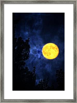 Yellow Moon Framed Print by Dan Quam