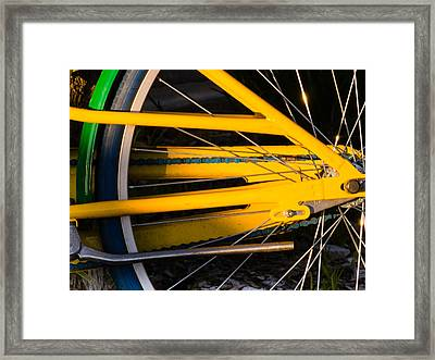 Yellow Motion Framed Print