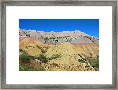 Framed Print featuring the photograph Yellow Mounds Badlands National Park by Jemmy Archer