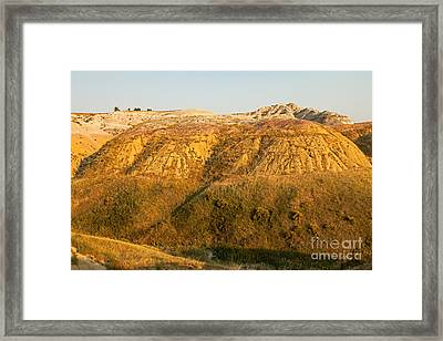 Yellow Mounds Overlook Badlands National Park Framed Print