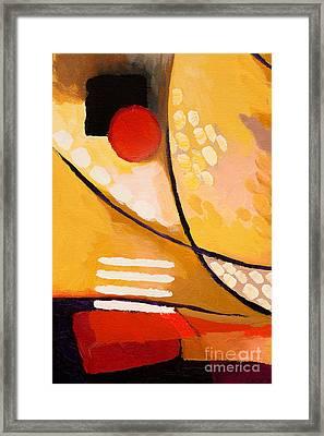 Yellow Move Framed Print by Lutz Baar