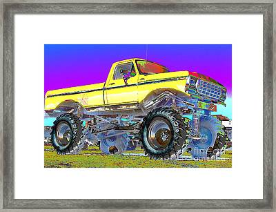 Yellow Mudder Framed Print by Lynda Dawson-Youngclaus