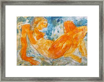 Yellow Nude 2  Framed Print