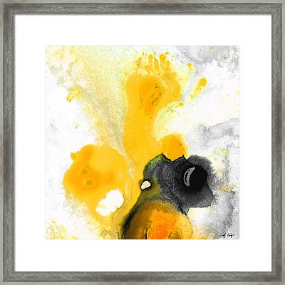 Yellow Orange Abstract Art - The Dreamer - By Sharon Cummings Framed Print