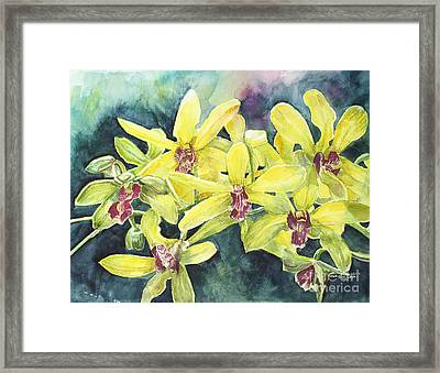 Yellow Orchids Framed Print
