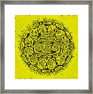 Yellow Oreo Framed Print by Rob Hans