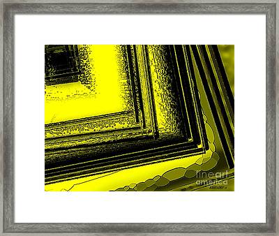 Yellow Over Yellow Art Framed Print by Mario Perez