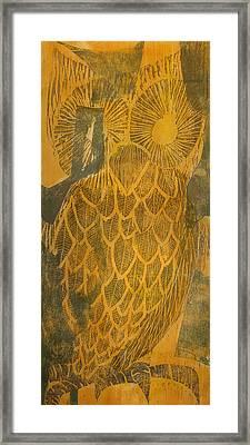 Yellow Owl Framed Print