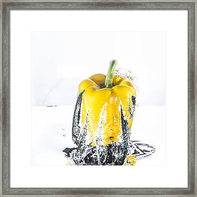 Yellow Pepper Rocket Framed Print