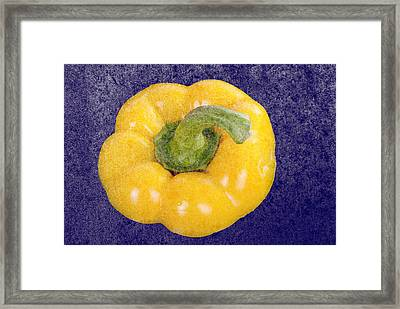 Framed Print featuring the photograph Yellow Bell Pepper by Vizual Studio