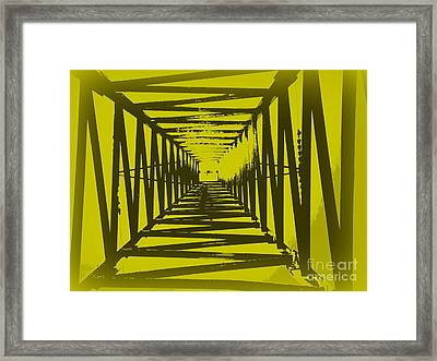Framed Print featuring the photograph Yellow Perspective by Clare Bevan