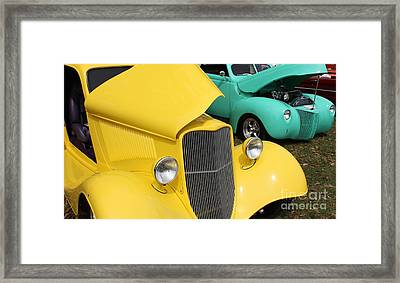Yellow Pistachio Framed Print by Cathy Dee Janes