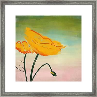 Yellow Poppies Framed Print by Lourry Legarde