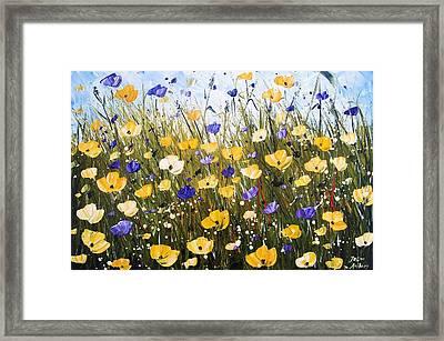 Yellow Poppis Framed Print by Jolina Anthony