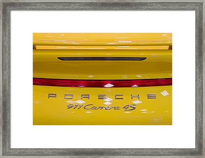 yellow Porsche Framed Print by Stelios Kleanthous