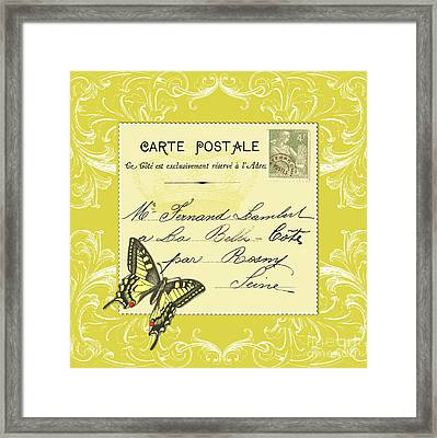 Yellow Postcard Framed Print
