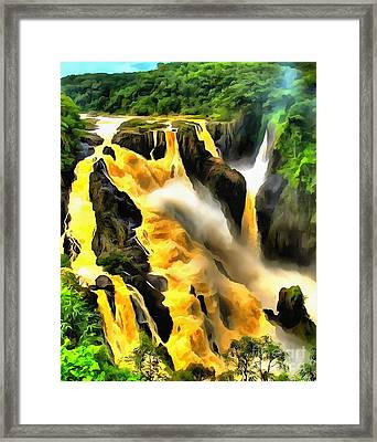 Yellow River Framed Print by Catherine Lott
