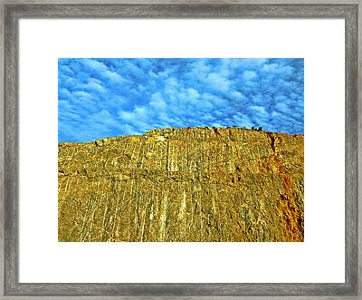 Yellow Rock Framed Print