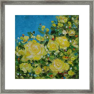 Yellow Roses Framed Print
