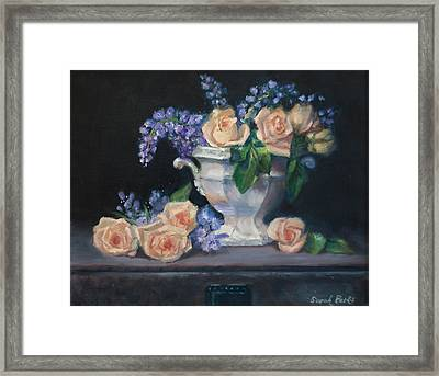 Yellow Roses Framed Print by Sarah Parks