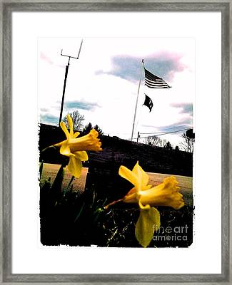 Yellow Salute Framed Print by Thommy McCorkle