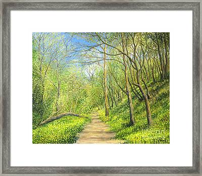 Yellow Scent Framed Print