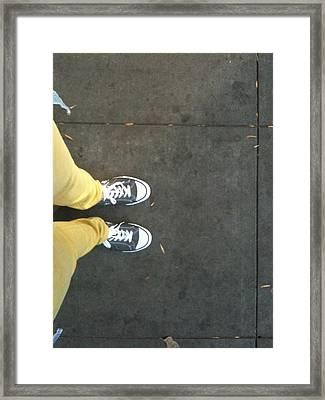 Yellow Framed Print by Selia Hansen