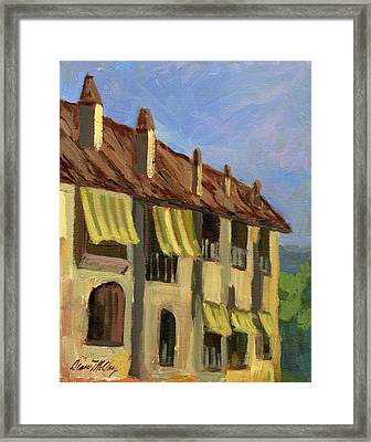 Yellow Shutters Costa Del Sol Framed Print by Diane McClary