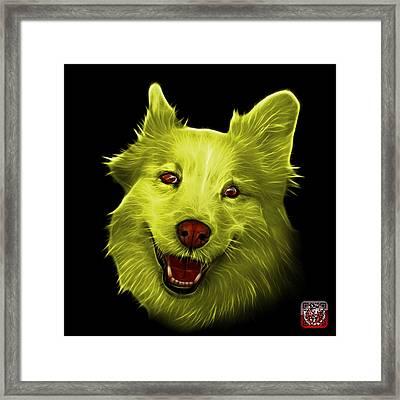 Yellow Siberian Husky Mix Dog Pop Art - 5060 Bb Framed Print by James Ahn