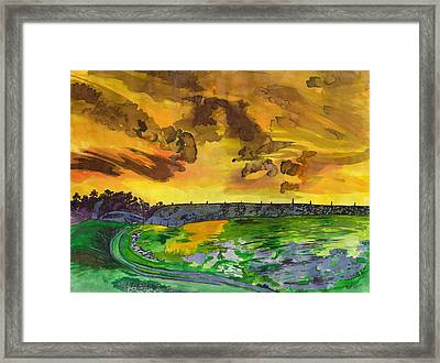 Yellow Skies Framed Print by Beverly Marshall