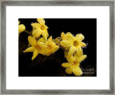 Framed Print featuring the photograph Yellow Spring Flowers by Elvira Ladocki