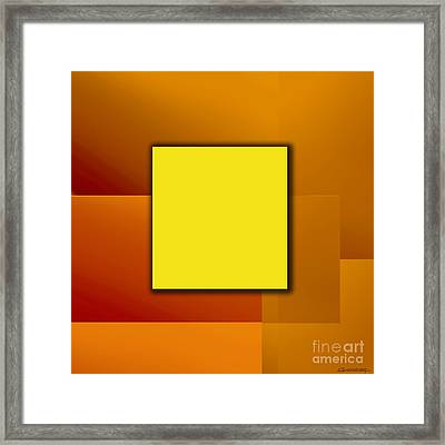 Yellow Square Framed Print by Christian Simonian