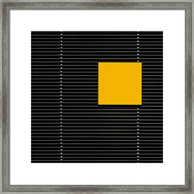 Yellow Square Framed Print by Luc Vangindertael