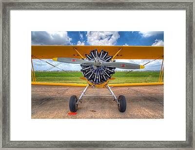 Yellow Stearman Framed Print