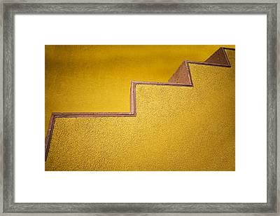Yellow Steps Framed Print by Melinda Ledsome