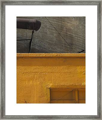 Yellow Storefront Framed Print