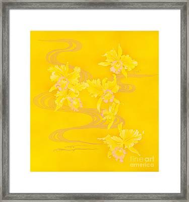 Yellow Stream Framed Print by Haruyo Morita
