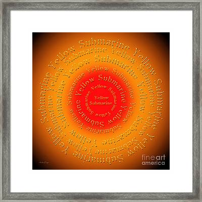 Yellow Submarine 2 Framed Print by Andee Design