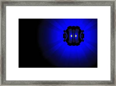 Framed Print featuring the digital art Yellow Submariner by GJ Blackman