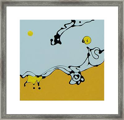 Yellow Sun Framed Print