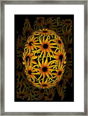 Yellow Sunflower Seed Framed Print by Barbara St Jean
