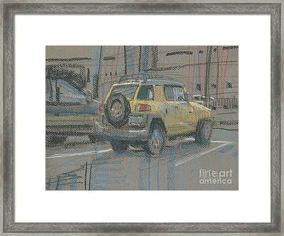Yellow Suv Framed Print