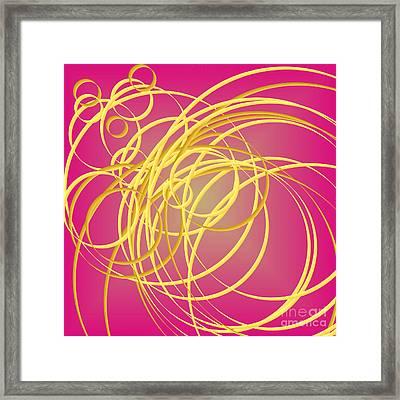 Yellow Thin Ribbons Framed Print