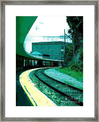 Yellow Track Framed Print by Sally Simon