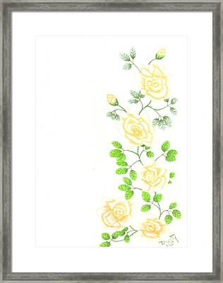 Yellow Trailing Framed Print by Dusty Reed