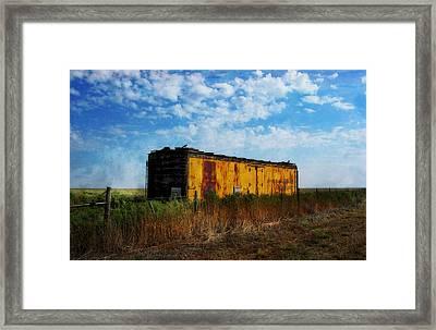 Yellow Train Car Framed Print