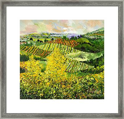 Yellow Trees Framed Print by Allan P Friedlander